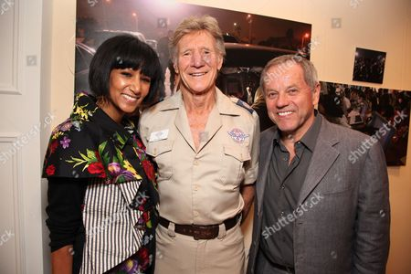 Stock Image of LOS ANGELES, CA - MARCH 24: **EXCLUSIVE** Gelila Assefa, Stan Brock and Wolfgang Puck at a recent reception at the LA Art House on March 24, 2010 hosted by Jerry Moss welcoming Stan Brock and RAM back to Los Angeles for the second clinic April 27 May 3, 2010.