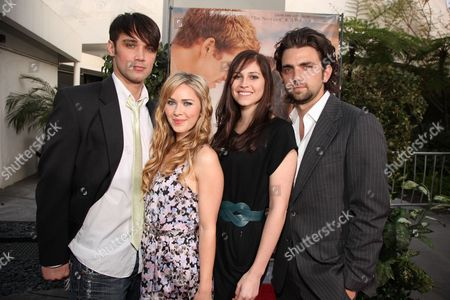 HOLLYWOOD, CA - MARCH 25: Josh Nuncio, Cherilyn Wilson, Alli Kinsel and Adam Chambers at the World Premiere of Touchstone Pictures 'The Last Song' on March 25, 2010 at ArcLight Hollywood Cinema in Hollywood, CA.