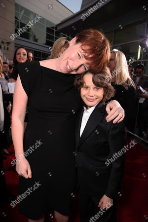 HOLLYWOOD, CA - MARCH 25: Director Julie Anne Robinson and Bobby Coleman at the World Premiere of Touchstone Pictures 'The Last Song' on March 25, 2010 at ArcLight Hollywood Cinema in Hollywood, CA.