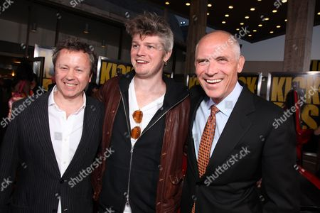 HOLLYWOOD, CA - APRIL 13: Producer Adam Bohling, Producer Tarquin Pack and Lionsgate's Joe Drake at Lionsgate's Los Angeles Premiere of 'Kick Ass' on April 13, 2010 at Arclight Cinerama Dome in Hollywood, California.