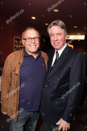 LOS ANGELES, CA - MAY 05: **EXCLUSIVE** Howard Deutch and Alan Silvestri at the 'Behind The Burly Q' screening on May 05, 2010 at Laemmle's Sunset 5 Theatre in Los Angeles, California.