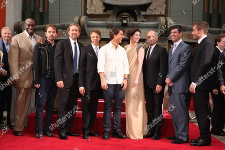 HOLLYWOOD, CA - MAY 17: Michael Clarke Duncan, Billy Bob Thornton, Nicolas Cage, Producer Jerry Bruckheimer, Tom Cruise, Gemma Arterton, Sir Ben Kingsley, Disney's Rich Ross and Jake Gyllenhaal at the Cinematic Celebration of Jerry Bruckheimer sponsored by Sprint and AFI on May 17, 2010 at Grauman's Chinese Theatre in Hollywood, California.
