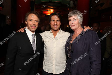 HOLLYWOOD, CA - MAY 17: **Exclusive** Producer Jerry Bruckheimer, Tom Cruise and Kelly McGillis at the Cinematic Celebration of Jerry Bruckheimer sponsored by Sprint and AFI on May 17, 2010 at Grauman's Chinese Theatre in Hollywood, California.