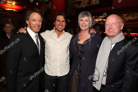 HOLLYWOOD, CA - MAY 17: **Exclusive** Producer Jerry Bruckheimer, Tom Cruise, Kelly McGillis and Tony Scott at the Cinematic Celebration of Jerry Bruckheimer sponsored by Sprint and AFI on May 17, 2010 at Grauman's Chinese Theatre in Hollywood, California.