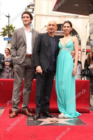 HOLLYWOOD, CA - MAY 27: Edmund Kingsley, Sir Ben Kingsley and Daniela Lavender at the Award Winning Actor Sir Ben Kingsley star ceremony on the Hollywood Walk of Fame on May 27, 2010 in Hollywood, California. He presently stars in 'Prince of Persia: The Sands of Time', which opens in theaters May 28, 2010.