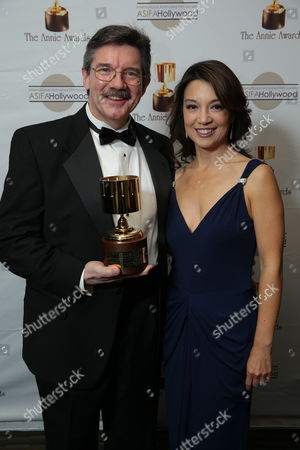 Stock Photo of Mark Henn and Ming-Na Wen at the 40th Annual Annie Awards held at UCLA Royce Hall on February 2, 2013 in Los Angeles, California.