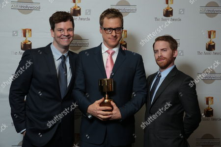 Kevin Shinick, Alan Tudyk and Seth Green at the 40th Annual Annie Awards held at UCLA Royce Hall on February 2, 2013 in Los Angeles, California.