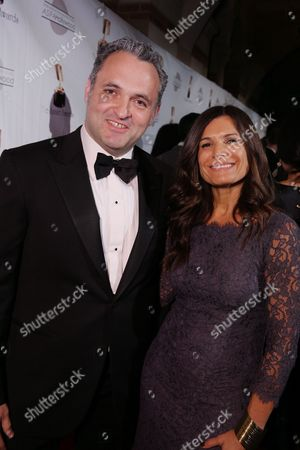 Genndy Tartakovsy and Michelle Murdocca at the 40th Annual Annie Awards held at UCLA Royce Hall on February 2, 2013 in Los Angeles, California.