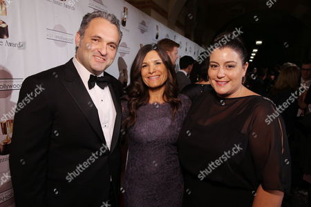 Genndy Tartakovsy, Michelle Murdocca and Sony Animation's Michelle Raimo Kouyate at the 40th Annual Annie Awards held at UCLA Royce Hall on February 2, 2013 in Los Angeles, California.
