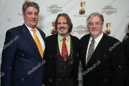 Al Jean, David Silverman and Matt Groening at the 40th Annual Annie Awards held at UCLA Royce Hall on February 2, 2013 in Los Angeles, California.