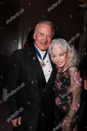 LOS ANGELES, CA - JANUARY 30: Buzz Aldrin and Lois Aldrin at 17th Annual Screen Actors Guild Awards People Magazine Party on January 30, 2011 at the Shrine Auditorium in Los Angeles, California.