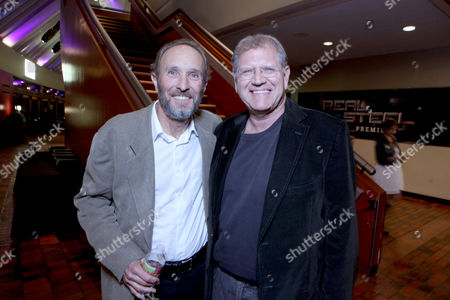 Executive Producer Steve Starkey and Executive Producer Robert Zemeckis are seen at The U.S. Premiere of DreamWorks Pictures' Action Drama 'Real Steel' at the Gibson Amphitheatre at Universal CityWalk, on Sunday, October 2, 2011 in Universal City, California.