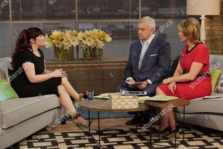 Joanne Mjadzelics with Eamonn Holmes and Ruth Langsford