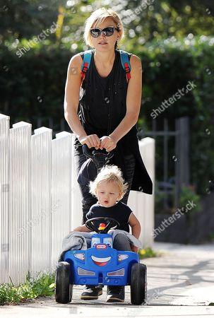 Malin Akerman with son Sebastian Zincone