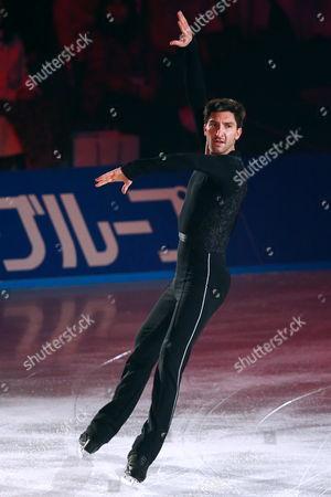Evan Lysacek competes in the Men's Free Skating