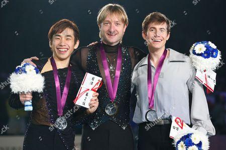 Nobunari Oda, Evgeni Plushenko, Jeffrey Buttle - Men's Free Skating Medal Ceremony