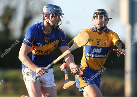 Clare's Gearoid O'Connell and Sean Maher of Tipperary