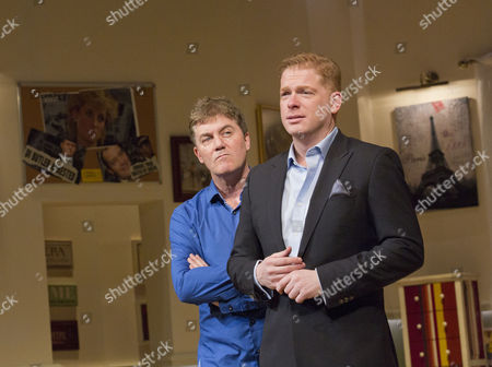 l-r: Jon Conway (Ray Jordan) and Fred Perry (James Hewitt)