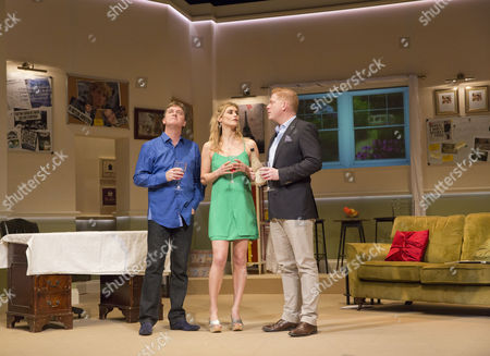 Stock Photo of l-r: Jon Conway (Ray Jordan), Kim Tiddy (Suzy Jordan) and Fred Perry (James Hewitt)