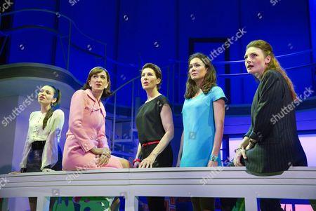 l-r: Seline Hizli (Marisa), Haydn Gwynne (Lucia), Tamsin Greig (Pepa Marco), Anna Skellern (Candela), Willemijn Verkaik (Paulina)