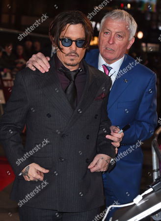 Johnny Depp with personal security man Jerry Judge