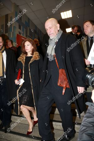 Nicoletta Peyran and John Malkovich