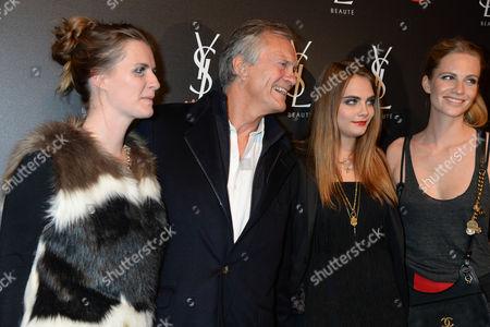 Charles Delevingne, Chloe Delevingne, Cara Delevingne and Poppy Delevingne
