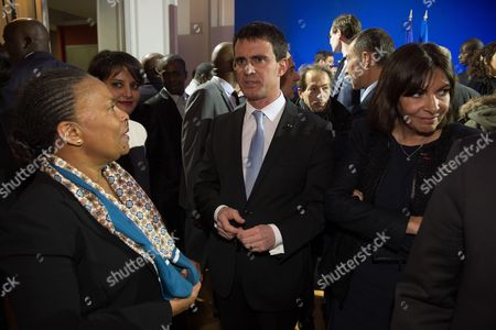 Christine Taubira, Manuel Valls and Anne Hidalgo