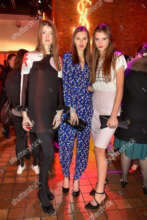 Jessica Burley, Zoe Huxford and Olivia David