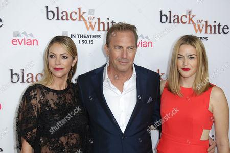 Kevin Costner with Christine Baumgartner and Lily Costner