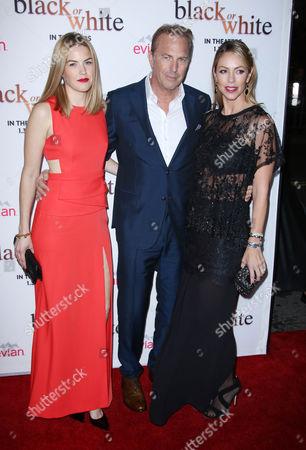 Kevin Costner with wife Christine Baumgartner and daughter Lily Costner