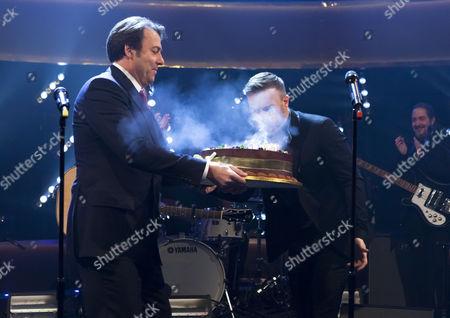 Jonathan Ross and Gary Barlow