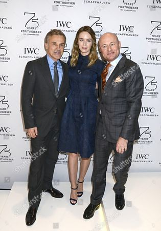 Stock Picture of Christoph Waltz, Emily Blunt and George Kern