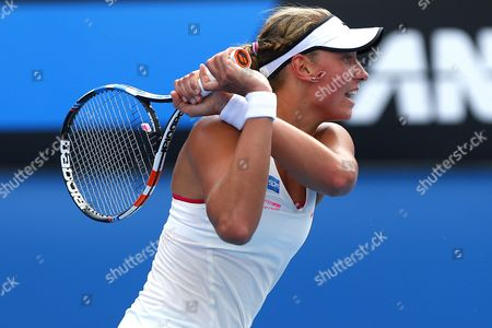 Stock Image of Yannick Wickmayer in action at the Australian Open, Melbourne, 2015.