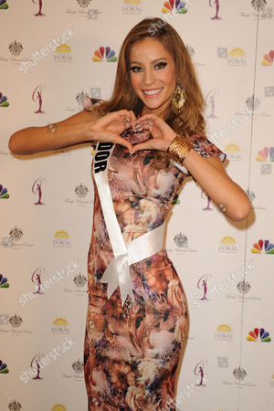 Editorial picture of Miss Universe Photocall, Miami, Florida, America - 20 Jan 2015