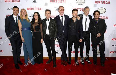 Jonny Pasvolsky, Gwyneth Paltrow, Olivia Munn, Ewan McGregor, Paul Bettany, Guy Burnet, Jeff Goldblum and Johnny Depp