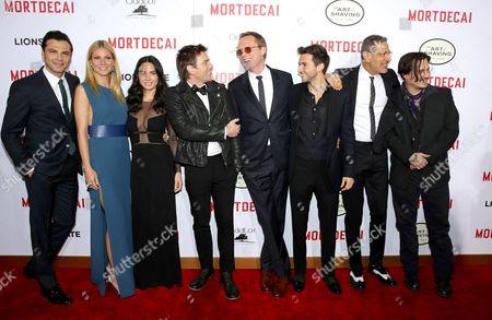 Stock Photo of Jonny Pasvolsky, Gwyneth Paltrow, Olivia Munn, Ewan McGregor, Paul Bettany, Guy Burnet, Jeff Goldblum and Johnny Depp
