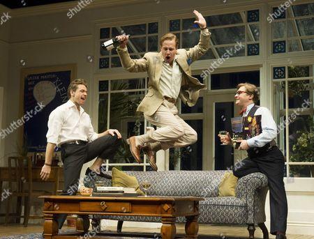 Julian Ovenden as John, Geoffrey Streatfeild as Daniel, Jonathan Broadbent as Guy