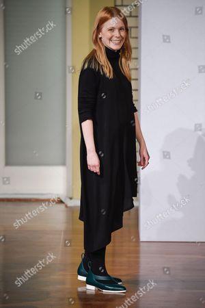 Stock Picture of Malaika Raiss on the catwalk