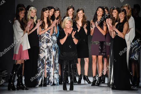 Stock Photo of Models and Elisabeth Schwaiger on the catwalk