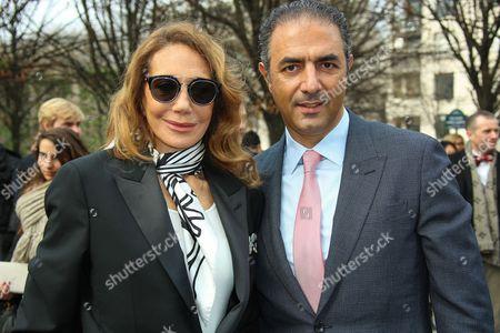 Marisa Berenson and Jean-Michel Simonian