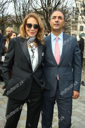 Stock Picture of Marisa Berenson and Jean-Michel Simonian