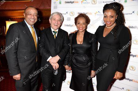 Paul Boateng, John Bercow, Janet Boateng and Akosua Essien