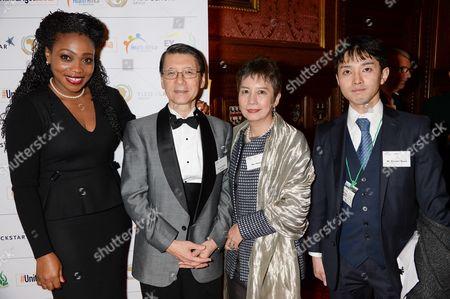Stock Photo of Akosua Essien, Keiichi Hayashi, Mrs Hayashi and Kosuke Wada
