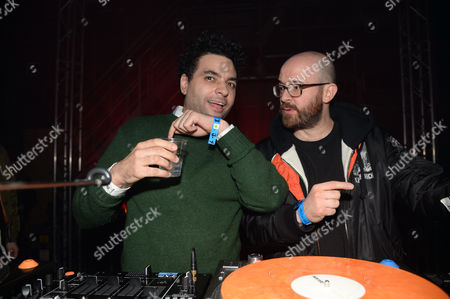Stock Photo of DJ and Seb Chew (Polydor record executive)