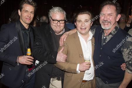 Julian Ovenden (John), John Sessions, Jonathan Broadbent (Guy) and David Bamber