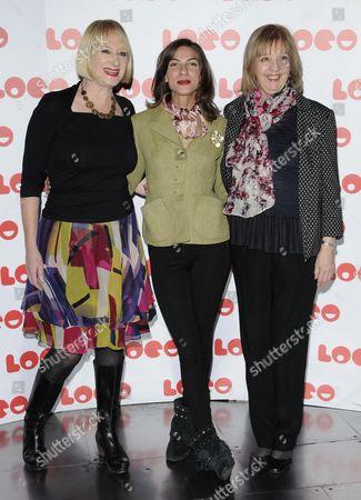 Hattie Hayridge, Natalia Tena and Ruth Sheen