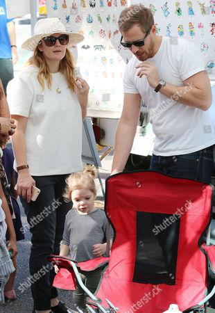 Drew Barrymore, Will Kopelman and Olive Barrymore Kopelman