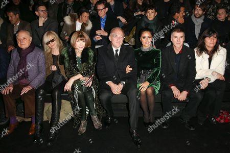 Pierre Berge, Betty Catroux, Anna Wintour, Francois-Henri Pinault, Salma Hayek, Etienne Daho, Emmanuelle Alt