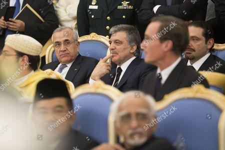 Michel Suleiman, Abdullah Gul and Saad Hariri